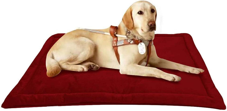 Pink dayus Pet Bed Warm Cat Dog Mat NonSlip Pet Mat Foldable Four Seasons Universal Multicolor MultiSize (color   F , Size   M)