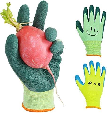 GLOSAV Kids Gardening Gloves for Ages 2 12 Toddlers Youth Girls Boys Children Garden Gloves product image
