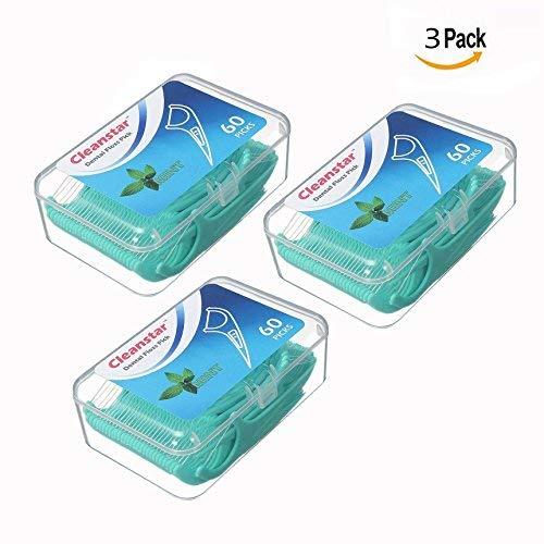OFKPO 3 x 60 Unidades Hilo Dental - Dental Floss Picks para interdental Oral Limpieza