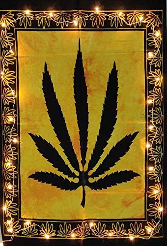 Indian Craft Castle - Affiche murale colorée à motif feuille de marijuana (76 x 102 cm) poster 30x40 inches citronier