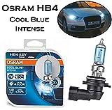 2x Osram Cool Blue Intense HB4 51W 12V 4200K 9006CBI-HCB High Tech Weiß Xenon Look Ersatz Halogen Birne für Scheinwerfer, Fernlicht, Abblendlicht- E-geprüft