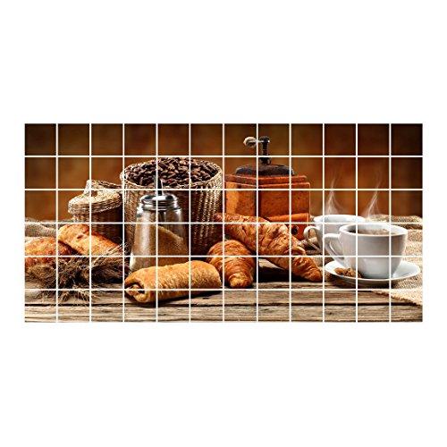 Bilderwelten Fliesenaufkleber Frühstückstisch Fliesengröße 10 x 10cm, Größe 60 x 120cm