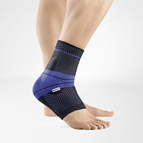 Bauerfeind - MalleoTrain - Ankle Support Brace - Helps Stabilize the Ankle Muscles and Joints For Injury Healing and Pain Relief - Right Foot - Size 1 - Color Black
