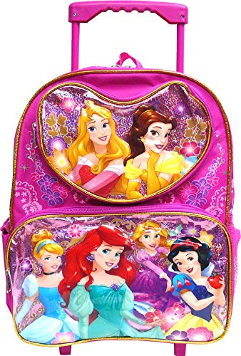Disney Princess heart porket 12 inches Toddler Rolling Backpack