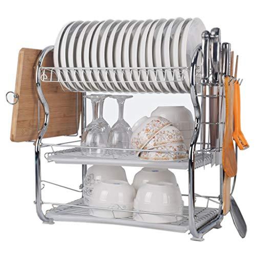 KYSZD-Geschirrtrockner 3-stufige Küchenabläufe aus Edelstahl Kompakte Besteckabläufe Multifunktions-Küchenregale