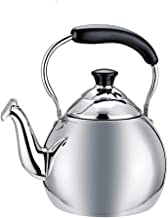 GSAGJsh Classical Electric Kettle, Retro Dome Tea Kettle, Brushed Stainless Steel Fast Boiler
