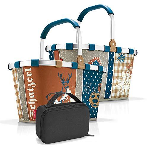 Reisenthel Set de carrybag BK Thermocase OY SBKOY Cesta de la compra con pequeña bolsa isotérmica, Edición especial Bavaria 4 + Black (Multicolor) - SBKOY