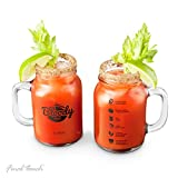 Final Touch Bloody Mary Mason Jar Glass, Set of 2