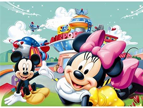 1000 piezas de juguetes educativos para adultos, juegos de rompecabezas de Mickey Mouse de dibujos animados, juegos eternos, regalos navideños para la decoración de la pared del hogar