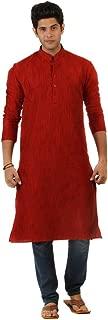 ROYAL Amora Menswear Khadi Kurta for Summer - Bright RED Color