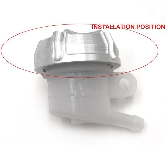 38mm Clutch Brake Reservoir Cap Front Rear Compatible with KTM Super Duke Moto RC8 R 1190 Black HTTMT 249008-Cap