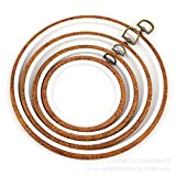 Embroidery Hoops Cross Stitch Hoop Ring Imitated Wood Circle Set Display Frame for Art Craft Handy Sewing and Hanging - Pack of 4 (5.5'+6.7'+8.6'+10')
