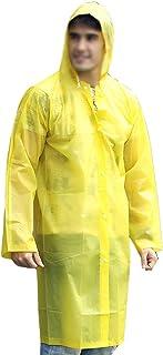 ZXQZ レインコートアダルトアウトドアハイキングレインコートシックニングロングセクション防水ポンチョ ポンチョ (色 : イエロー いえろ゜)