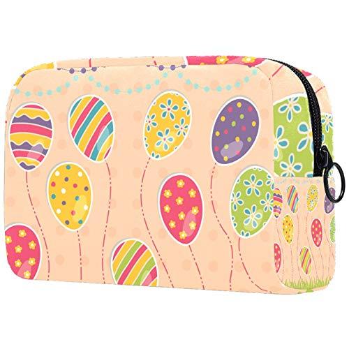 Bolsa de maquillaje para mujer, bolsa de aseo con cremallera, bolsa de maquillaje para gatos y juguetes de pollo en el sofá en el jardín