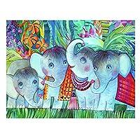 ベビーエレファントキャンバス絵画ウォールアートポスターとプリントキャンディーインディアンエレファントウォールピクチャーキッズルーム保育園の家の装飾40X50cmフレームレス
