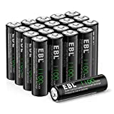 EBL AA Rechargeable Batteries for Solar Lights Replacement, 1.2V 1100mAh High Performance Ni-CD...