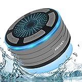 Enceinte Bluetooth Étanche Haut-Parleur Douche sans Fil Portable étanche Douche Haut-Parleur avec Radio FM,Lumières LED,Super...