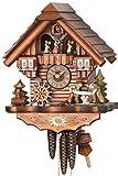 Allemand Horloge coucou (de la Forêt Noire) avec mouvement 1 jour - style Chalet - 36 cm - Coucou de la forêt noire authentique - de Hekas