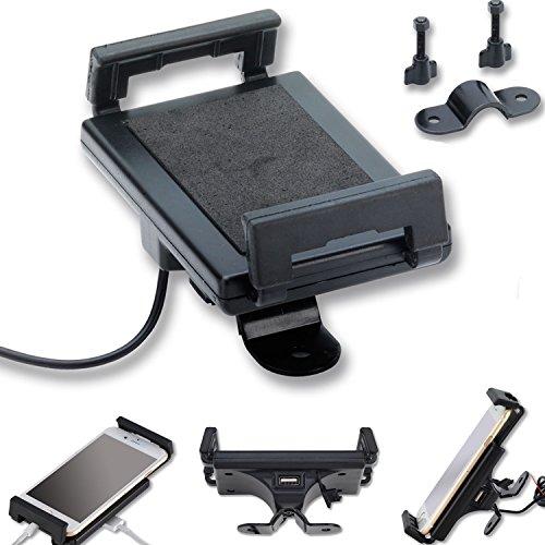 Support moto pour téléphone portable avec prise USB, noir, smartphone, téléphone, GPS