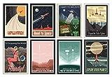 Weltraum NASA Poster Set - 8 x A4 Universum Poster - Das perfekte Geschenk für kleine und große...