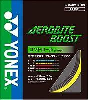 ヨネックス(YONEX) バドミントンガット 単張り エアロバイトブースト(AEROBITE BOOST) 0.72×0.61 グレー/イエロー BGABBT-815 0 0