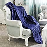 Homde Duvet Cover for Weighted Blanket   Breathable Cotton and Soft Minky Dot