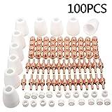 100pcs Plasma Decoupe Electrode Tip Buse, Air Decoupe au Plasma Consommables, Decoupeur Plasma pour LG-40 PT-31 CUT40 CUT50