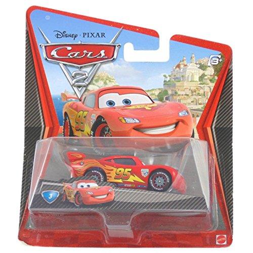 Mattel - W1941 - Voiture Miniature - Cars 2 - Flash McQueen avec Roue de Course