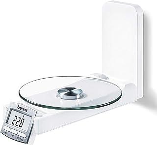 Beurer KS52 - Balanza de Cocina con función reloj, 2 visore