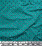 Soimoi Grun Satin Seide Stoff Dot & Floral Hemdenstoff