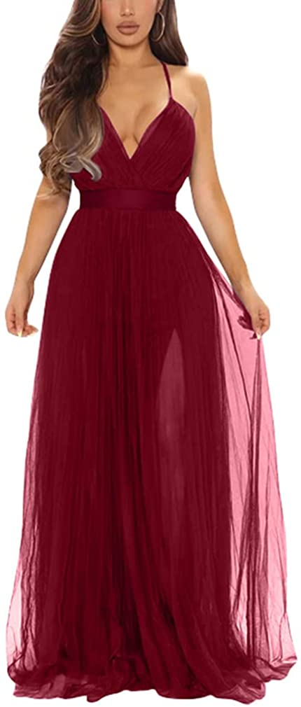 At the price XXTAXN Women's Sexy Deep V Neck Maxi Party Bargain sale Formal Split Cocktail