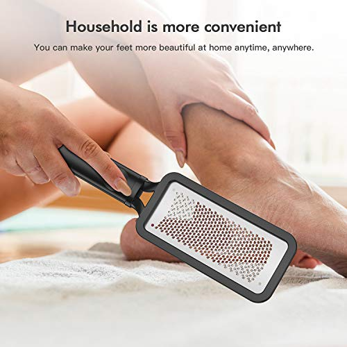 Niuta colossal foot rasp foot file and callus remover,surgical grade stainless steel file,can be used on trimming dead skin, callus, foot corn, cracked heels.