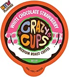 Crazy Cups Flavored Single-Serve Coffee for Keurig K-Cups Machines, Decaf White Chocolate...