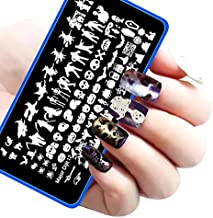 Nail Art Stamp Stamping Template Image Plates - Halloween DIY Nail Art Image Stamp Stamping Plates Manicure Template Nail Art Tools 1Pcs