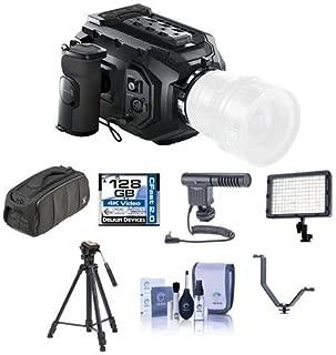 Blackmagic Design URSA Mini 4K Camera with EF Mount, 4K Super 35 Sensor - Bundle with 128GB CFAST Card, Video Bag, Shotgun Mic, Video Tripod, Video Light, Cleaning Kit, V Shoe Bracket