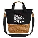 So'each Women's Handbag Nurse Pride Patience Crossbody Weave Shoulder Bag Black
