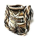 South American Pre colombino diseño Wayuu tejido a mano crochet bolso de hombro mochilla