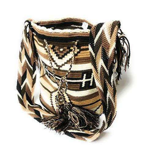 Sudamericano diseño pre colombino Wayuu mano tejido ganchillo bolso de hombro Mochilla