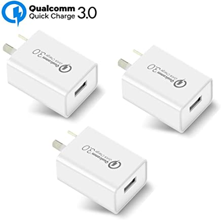 Australia 18W Quick Charge 3.0,Wong Qualcomm Certified Quick Charge 3.0 USB Wall Charger Portable Adapter(Quick Charge 2.0 Compatible) for iPhone, iPad, Samsung Galaxy/Note and More (3 Pcs White)