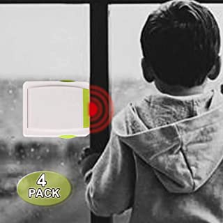 Sliding Glass Door Locks Child Safety Sliding Closets Locks Child Safety Child Proof Sliding Window Restrcitors Child Safety Sliding Window Stoppers (4 Pack) with Strong 3M Tape, No Screws or Drills