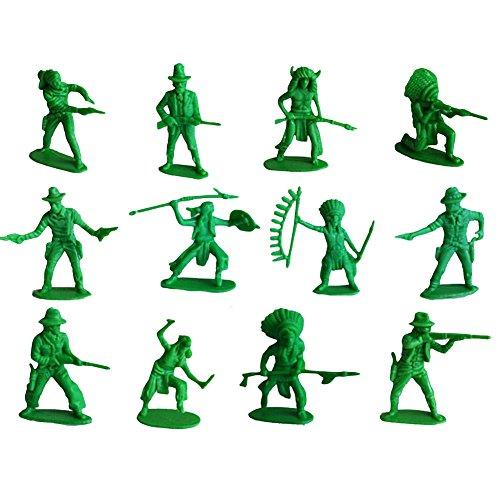 Black Temptation 60 Piezas de Soldados de Juguete Regalos / Coches / Camiones / Tractores / Toy Guns Models -Verde 1:36