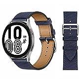 Donne Uomini Cinturino Compatibile con Samsung Galaxy Watch 46mm/Gear S3 Frontier/Classic/3 45mm,Ricambio Bracciale in Pelle Compatibile con Huawei Watch GT Sport/2 Classic/2 Pro/GT,Marina Militare