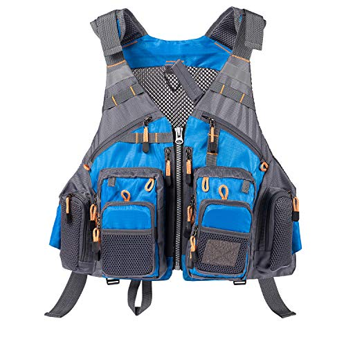 Lightbare Fly Fishing Vest for Men with Pockets for Trout Fishing Photography
