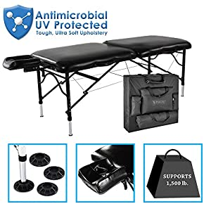 """Master Massage 30"""" StratoMaster Light Weight, Black (Only 25 lbs) with New NanoSkin Upholstery and Fully Loaded with Accessories"""