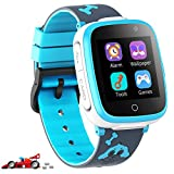 Kids Smart Watch for Boys Girls - Kids Smartwatch with Call 7 Games Music Player Camera SOS Music Alarm Clock Calculator 12/24 hr Touch Screen Children Smart Watch for Kids Age 4-12 Gifts (Blue)