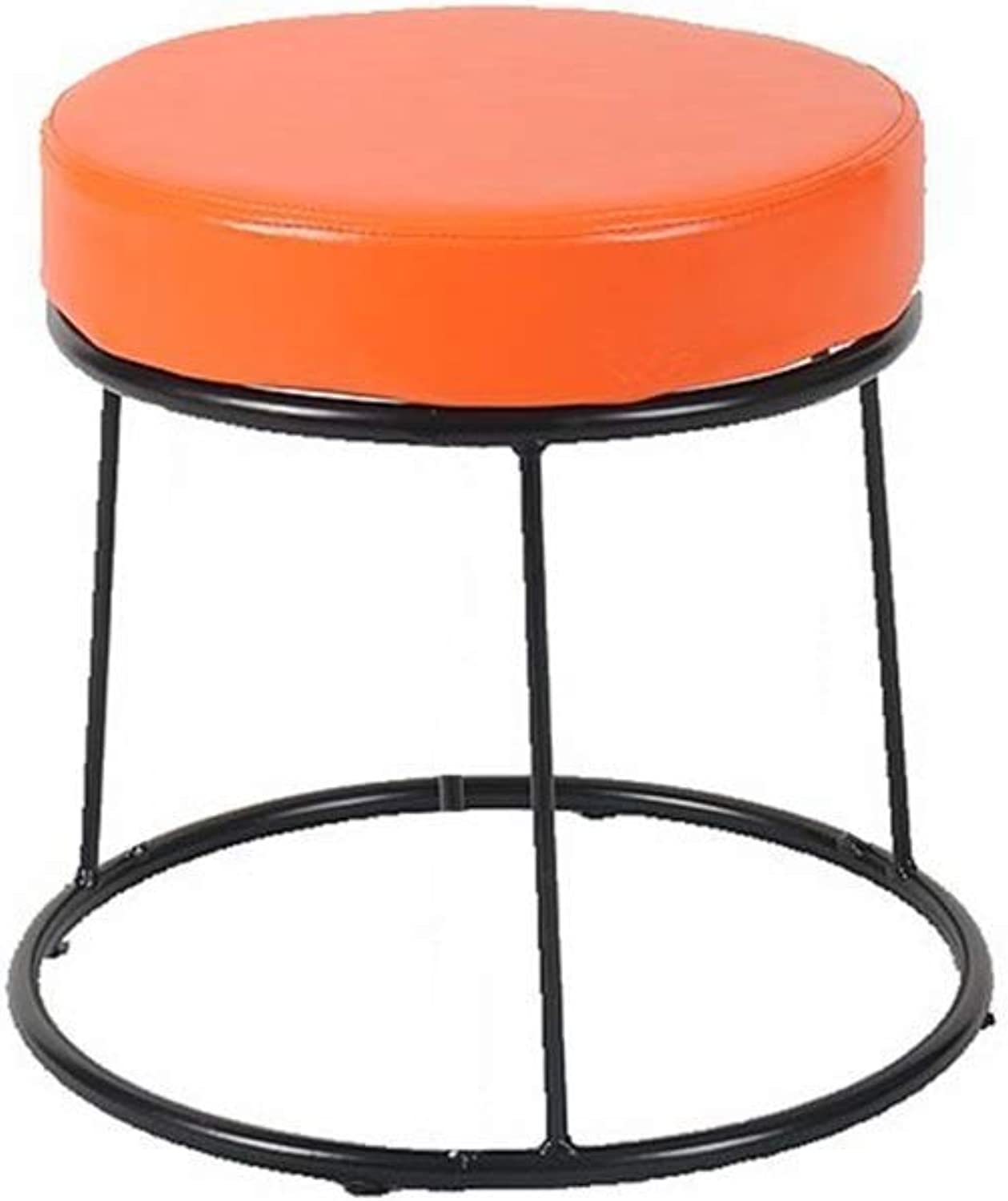 Stools, Retro Industry Decorative Stool Cafe Stool Home Leisure Dining 35cm 45cm Various Styles (color   Colour  E, Size   37  35cm)
