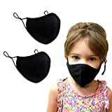 Purian black kids face masks, Washable Reusable Adjustable, Fits Toddlers, Teens