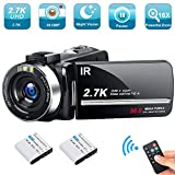 Video Camera Camcorder Weton 2.7K Ultra HD Digital YouTube Vlogging Camera 30MP IR
