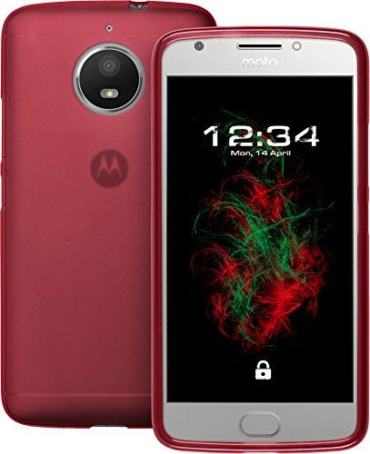 Baluum TPU Matt rote Hülle für Motorola Moto E4 Plus Schutzhülle Hülle Cover Handyhülle Backcover Silikonhülle
