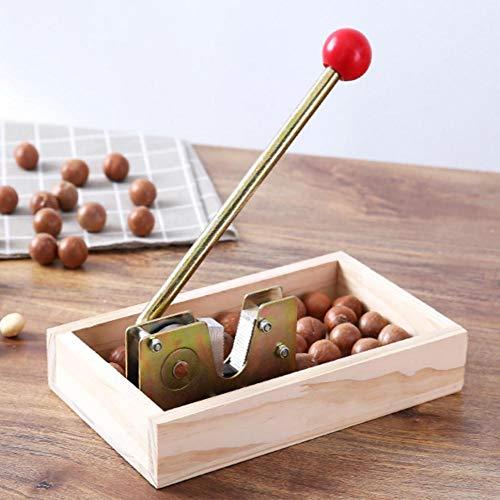 Máquina de abrevadero de Alta Potencia de Madera de Nogal y Macadamia, para Tratamiento de avellanas, con Mango de Metal Resistente.